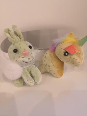Мягкая игрушка, Зайка/Единорожка 10 см (брелок)