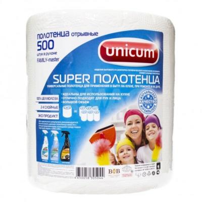 Полотенца бумажные универсальные Unicum Family-master, 500 шт/рул