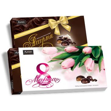 Набор шоколадных конфет Ассорти, 130 г