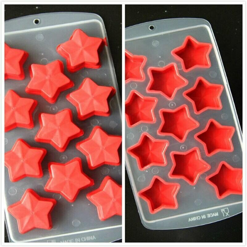 Форма силиконовая для льда звезды