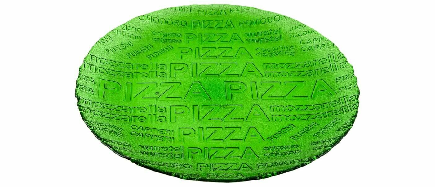 Блюдо сервировочное NiNaGlass Пицца 35 см стекло