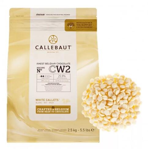 Шоколад белый в дисках 25,9%, CALLEBAUT, Бельгия 2,5 кг