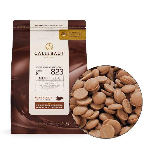Шоколад молочный в дисках 33,6%, CALLEBAUT, Бельгия 2,5 кг