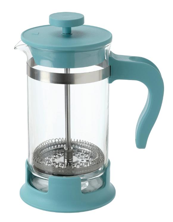 УПХЕТТА Кофе-пресс/заварочный чайник, стекло/темная бирюза 0.4 л