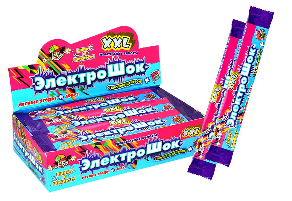 Жевательная конфета Электрошок XXL, 28 г