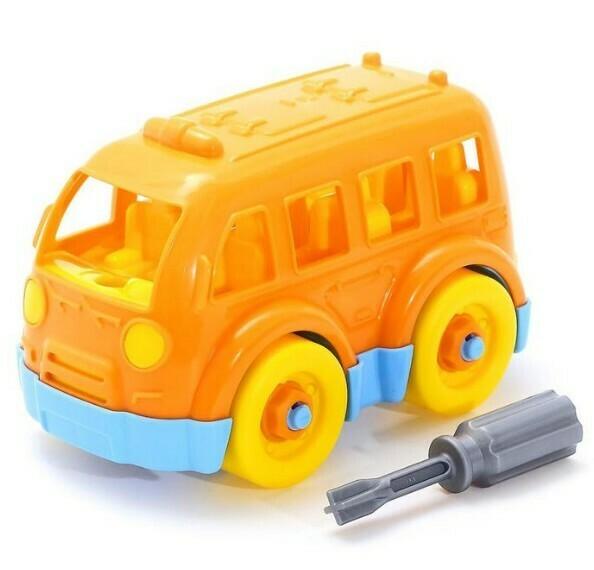 Конструктор-транспорт Автобус малый 15элементов (в пакете)