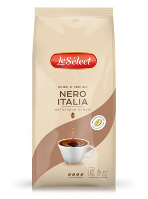 Кофе LeSelect Nero Italia зерно 0,2 кг