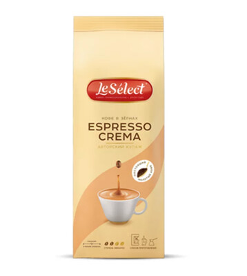 Кофе LeSelect Espresso Crema натуральн.молотый 0,2 кг