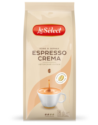 Кофе LeSelect Espresso Crema зерно 0,2 кг