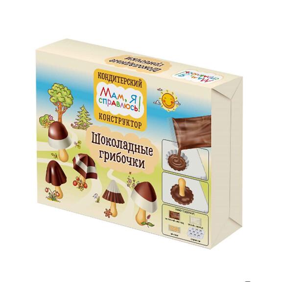 """Кондитерский конструктор """"Мам, Я справлюсь!"""", шоколадн.грибочки 40 г"""