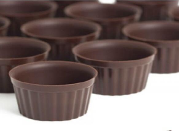 Чашечки для десертов, темный шоколад, CALLEBAUT, Бельгия, 48 шт