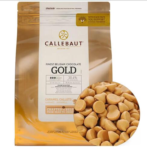 Шоколад золотой со вкусом карамели в дисках, CALLEBAUT, Бельгия 2,5 кг