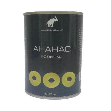 Ананасы консервированные в сиропе WHITE ELEPHANT, 580 мл
