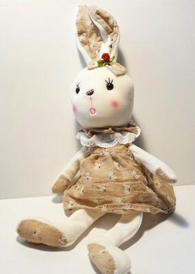 Мягкая игрушка, Зайка в платье на присоске 50 см