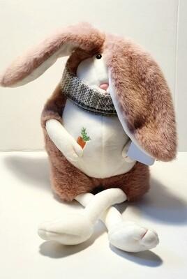 Мягкая игрушка, Заяц в шарфе  50 см