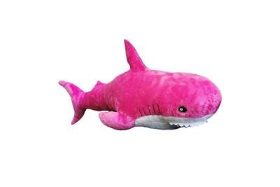 Мягкая игрушка, Акула 35 см розовая