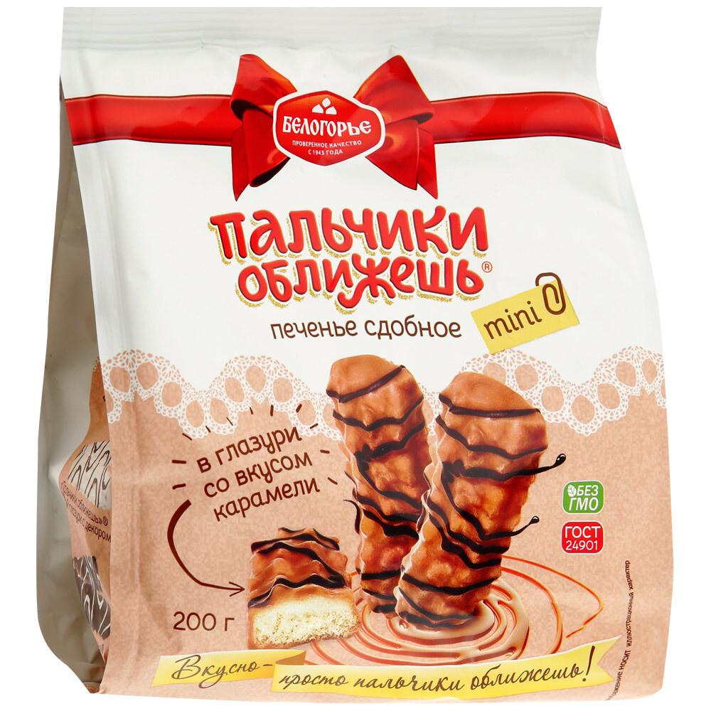 Печенье Пальчики оближешь со вкусом карамели, 200 г
