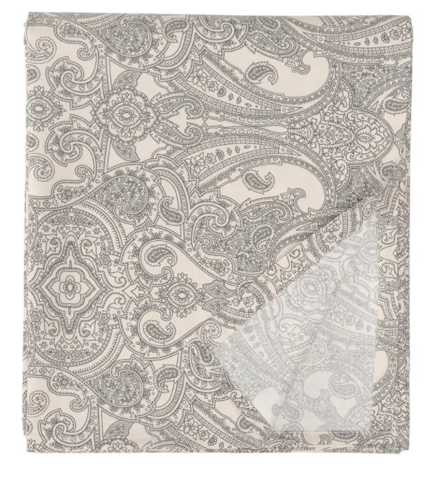 ЙЭТТЕВАЛЛМО Простыня, бежевый/темно-серый 240x260 см
