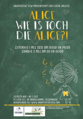 Ticket KIND (-12j) Alice wie is toch die Alice 1/05/21 om 19U30
