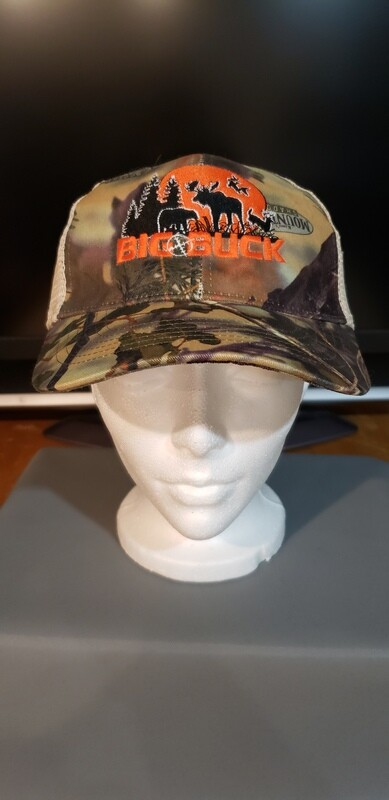 CASQUETTE BIG BUCK CAMO MOUNTAIN SHADOW LOGO VINTAGE