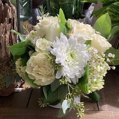 Petite White Flower Arrangement