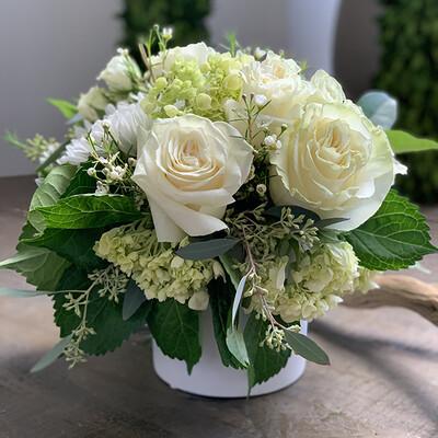 Medium White Flower Arrangement