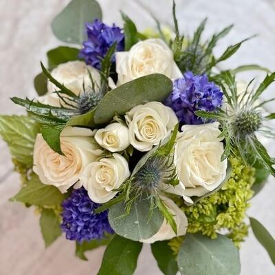 Petite Blue Flower Arrangement
