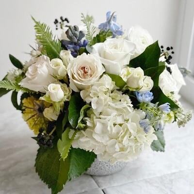 Large Blue Flower Arrangement