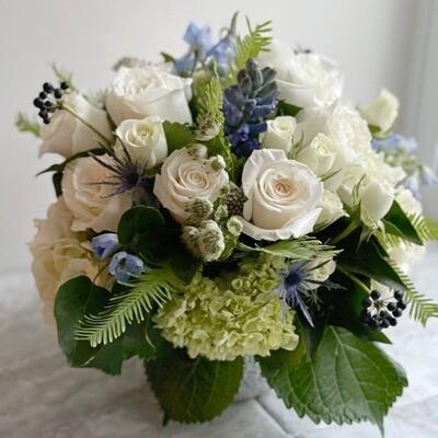 Medium Blue Flower Arrangement