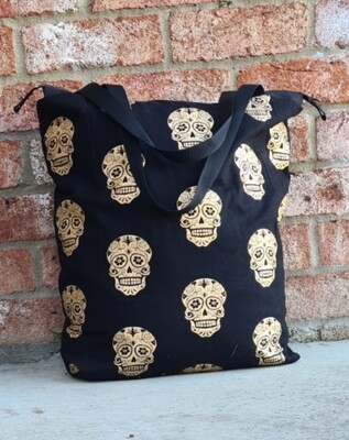 Metallic Skull Beach Bag