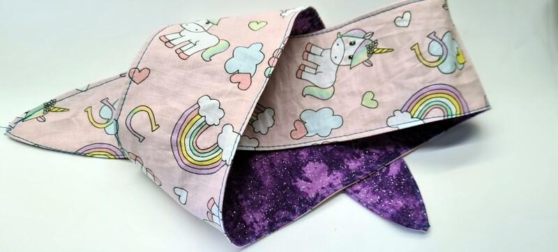 Unicorn Blue Adult Tie up headbands