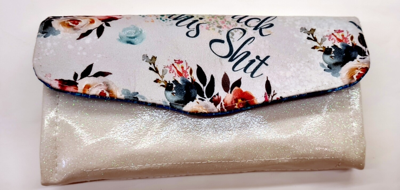 Eff This Glitter Vinyl Swear Wallet