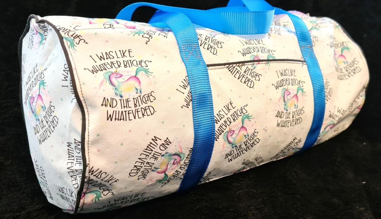 Whatever B!tches Canvas Duffel Bag