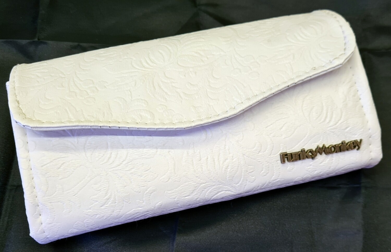 White floral Vinyl wallet