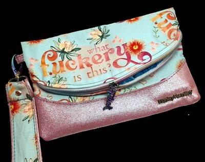 What Eff is this foldover clutch wristlet