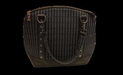 Pinstripe swear bag