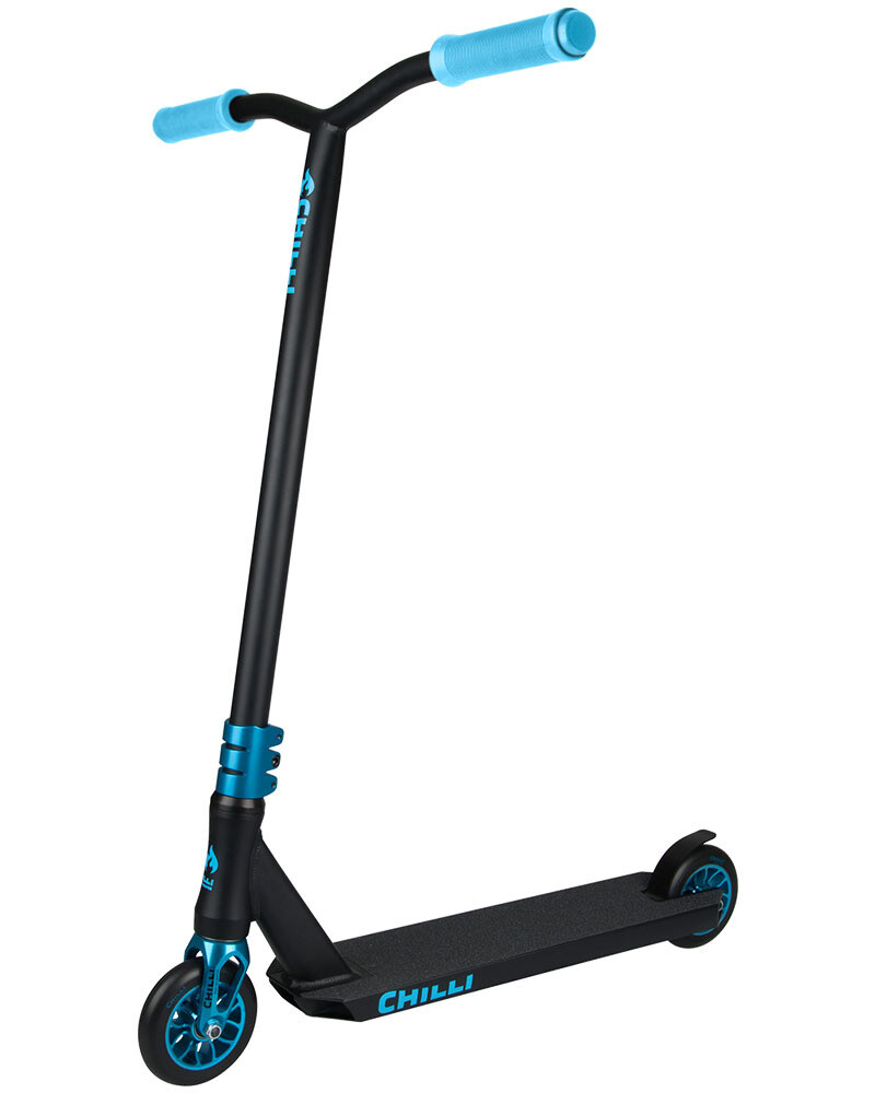 Chilli Reaper Wave scooter - black blue triku skrejritenis