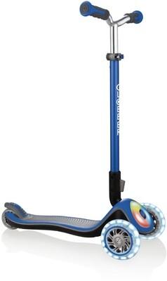 Globber Elite Prime Flashing Blue trīsriteņu bērnu skrejritenis
