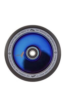 Striker Lighty Full Core V3 Black Pro Scooter Wheel (Color: Blue Chrome)