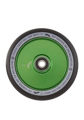 Striker Lighty Full Core V3 Black Pro Scooter Wheel (Color: Green)