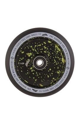 Striker Lighty Full Core V3 Black Pro Scooter Wheel (Color: Green Splash)
