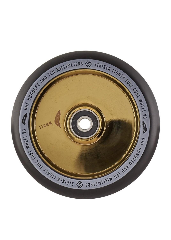 Striker Lighty Full Core V3 Black Pro Scooter Wheel (Color: Gold)