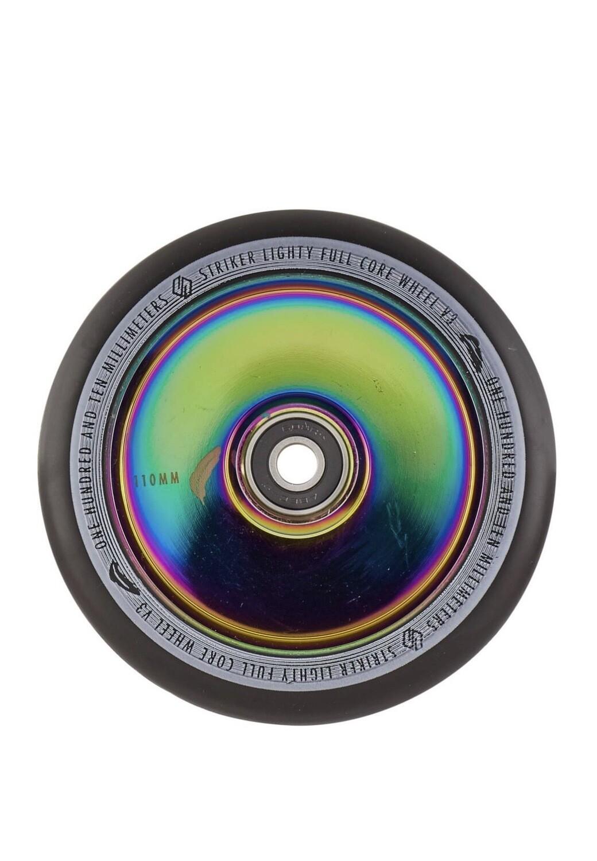 Striker Lighty Full Core V3 Black Pro Scooter Wheel (Color: Rainbow)