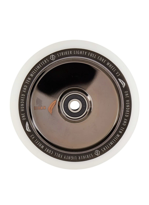 Striker Lighty Full Core V3 White Pro Scooter Wheel (Color: Metallic Black)