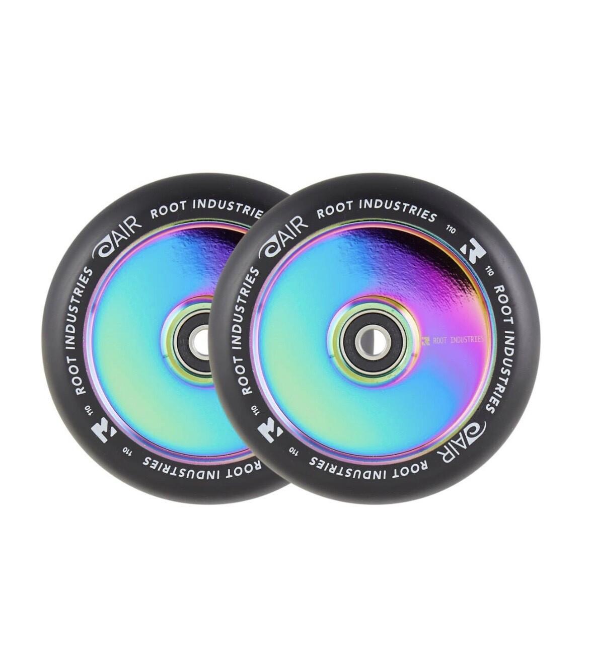 Root Air Black Pro Scooter Wheels 2-pack (Neochrome) Riepas triku skrejritenim