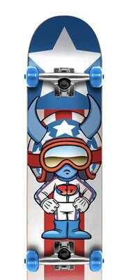Speed Demons Characters Complete Skateboard (Color: Stars)