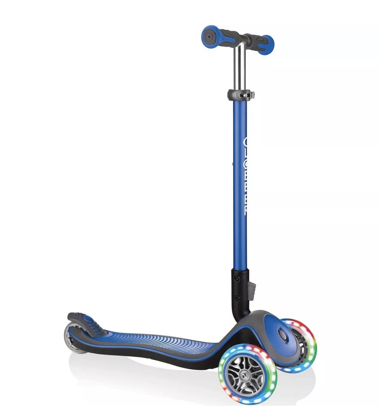 Globber Elite Delux Blue trīsriteņu skrejritenis