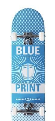 Blueprint Pachinko Complete Skateboard (Blue/White)