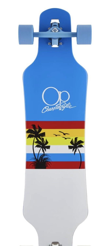 Ocean Pacific Drop Through Complete Longboard (Sunset)
