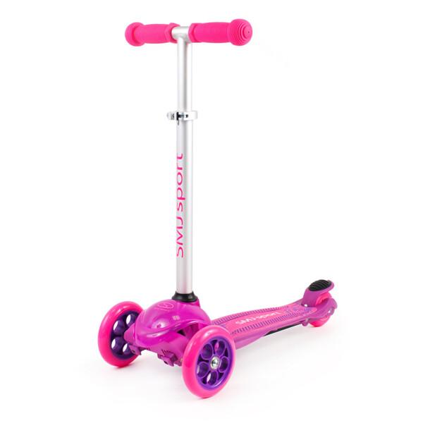 SMJ sport LED trīsriteņu skrejritenis rozā